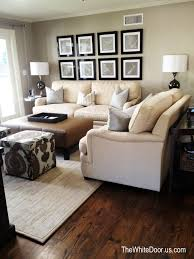 beige leather sofa. Beige Leather Sofas, Brown Ottoman, Accent Poufs With Pattern. Sofa