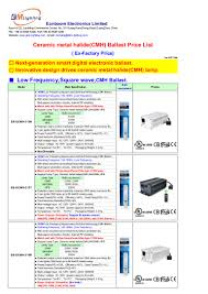 Philips Lighting Catalogue With Price List 2017 Hydroponics Ceramic Metal Halide Ballast Low Frequency