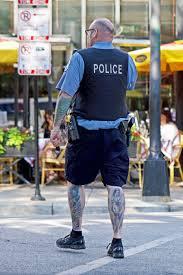 тату шорты два ствола лето полицейская форма полиция