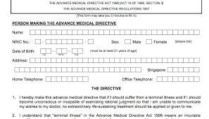Advance Directive: More Than A Form