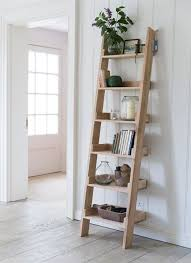 Ladder Shelving Unit Homesfeed Rustic Ladder Shelves Contemporary