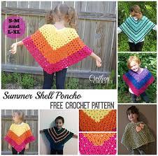 Free Crochet Poncho Patterns Extraordinary Ravelry Children's Shell Poncho Pattern By Lorene Haythorn Eppolite