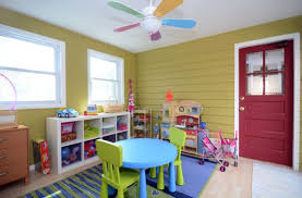 View in gallery Charming little fan accentuates the color scheme of the  playroom