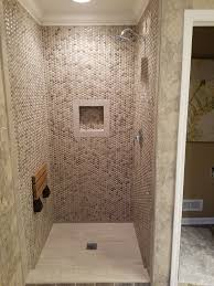 Tile For Bathroom Shower Walls 3d Polished Grey Basket Weave Stone Tile Shower Walls Pebble