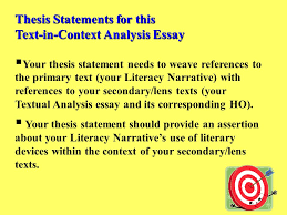 example of text analysis essay textual analysis essay thesis statements for this text in context