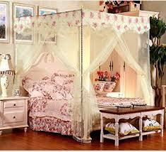 Amazon.com: Beige 4 Corners Princess Circle Lace Curtain Mosquito ...