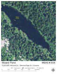 Wizard Lake Depth Chart Lakes Of Maine Lake Overview Wizard Pond T10 Sd