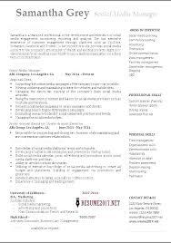 Social Media Manager Job Description Resume Best of Social Media Resume Example Social Media Resume Samples