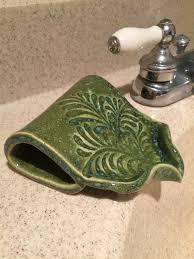 self draining soap dish terranean sea green