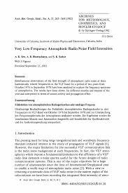 Very Low Frequency Atmospheric Radio Noise Field Intensities