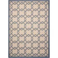 caribbean ivory blue 9 ft x 13 ft indoor outdoor area rug