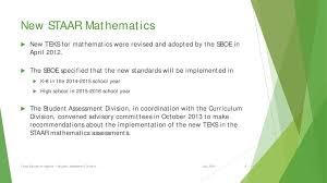Tea Update On Staar Mathematics Texas Education Agency
