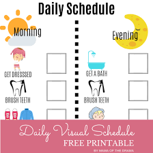 Daily Routine Printable Visual Daily Schedule Free Printable Mama Of The Drama
