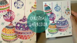 watercolor for how to paint xmas ornaments sd painting by art tv english you