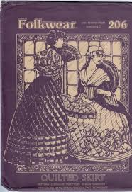 Folkwear Patterns Beauteous Folkwear Patterns 48 Quilted Skirt 48th Century Pioneer Victorian