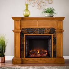 45 5 cartwright convertible mission oak electric fireplace