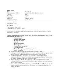 Sample Resume For Pastry Chef Free Sample Resume Cover Letter