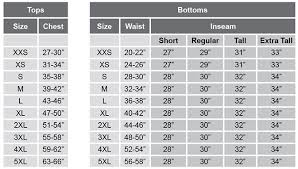 Women S Pants Inseam Size Chart Sizing
