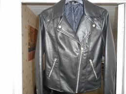 las faux leather jacket h m sz 8