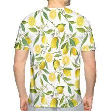 Nicokee 3d Print T Shirt Nature Exotic Lemon Tree Cool