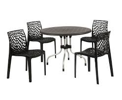 supreme beautiful black outdoor 4 chair 1 round table set