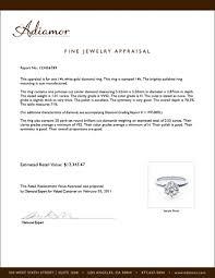 Appraisal Sheet Custom Why Should I Get My Engagement Ring Appraised Adiamor