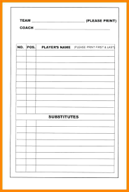 8 Batting Order Template Baseball Position And Field Lineup