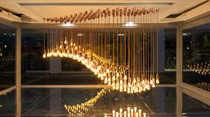 sculptural lighting. simple lighting design museum tanku0027s wavy light sculpture shows off energy efficient plumen  002 lightbulbs intended sculptural lighting i