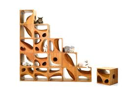 catable modern modular wooden furniture for cats cat modern furniture