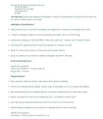 Wedding Photographer Resume Photographers Resume Wedding ...