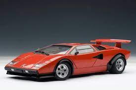 Autoart Lamborghini Countach Lp500s Walter Wolf Edition Red 74651 In 1 18 Scale Lamborghini Countach Lamborghini Red