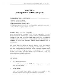 Business Memo Format Short Report Format Business Memorandum Progress Memo Formal