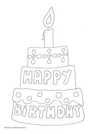 Birthday Cake Coloring Page Inspirational Happy Birthday Coloring