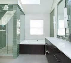 Glass Enclosed Showers awesome glass enclosed shower with white wall tile chair rail door 6833 by xevi.us