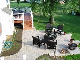 paver patio with deck. Simple Deck Columbus Monarch Composite Deck With Paver Patio To With E