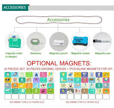 Magnetic Chores Chart Dry Erase Board Wall Sticker Kids