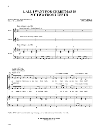 all i want for christmas is my two front teeth sheet music pop partners p a cd includes pdf files by j w pepper sheet music
