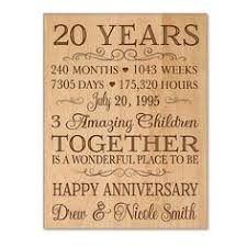 personalized 20th anniversary gift for him 20 year wedding anniversary gift for her special