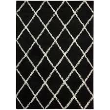 black and white diamond rug black white area rug by x free today black
