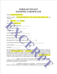 Tenant Estoppel Certificate Realcreforms