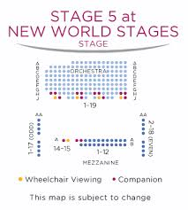 Jorgensen Theater Seating Chart New World Stages Stage 5 Shubert Organization