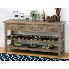 buffet with wine rack.  With Lovella Wooden Wine Rack Buffet Table Throughout With