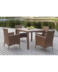 5 piece outdoor dining set. Safavieh Frazier Wicker 5 Piece Outdoor Dining Set Toasted Almond - PAT2505C
