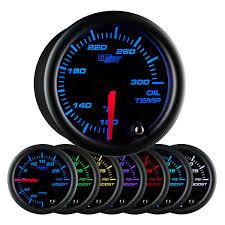 glowshift black 7 color oil temp gauge with electronic 2007 Hyundai Tiburon Oil Temperature Sender Wiring Diagram black 7 color oil temperature gauge