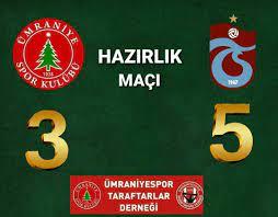 Hazırlık Maçı Ümraniyespor 3 - 5 Trabzonspor - Ümraniyespor 1938