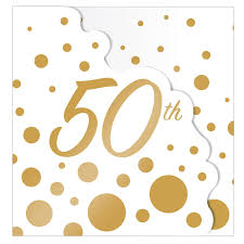50th Anniversary Party Invitations Sparkle Gold Dots 50th Anniversary Party Invitations 8 Ct