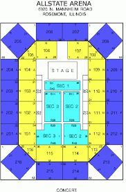 Allstate Seating Chart 58 Curious Allstate Arena Seat Views