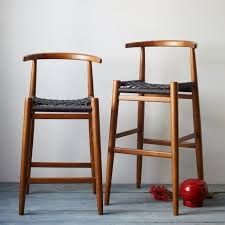 Wooden stools with back Swivel Breathtaking Wooden Counter Stool With Wicker Rope Stool Seats Also Varnished Wood Stool Back From Kitchen Design Ideas And Picture Pinterest Breathtaking Wooden Counter Stool With Wicker Rope Stool Seats Also