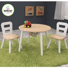 kidkraft round storage table chair set 27027