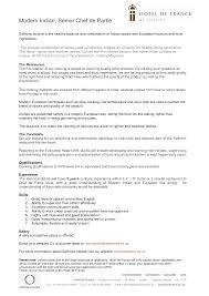 Sample Cover Letter For Chef De Partie Job Cover Letter